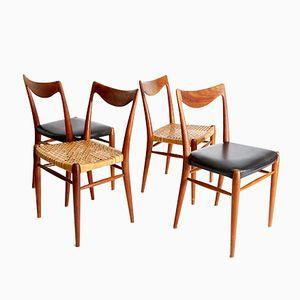 Sedie da pranzo Bambi vintage in teak di Rolf Rastad & Adolf Relling per Gustav Bahus, set di 4