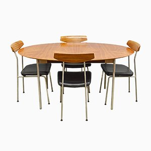 Mid-Century Teak and Steel Table and Chairs by John and Sylvia Reid for Stag