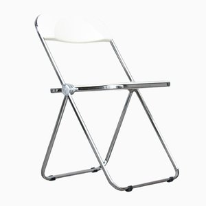 Vintage Folding Plia Chair in White by Giancarlo Piretti for Castelli