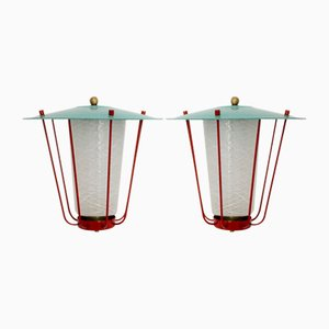 Lanterne di J.T.Kalmar per Kalmar, anni '60, set di 2