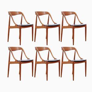 Model 75 Side Chairs by Johannes Andersen for Uldum Møbelfabrik, 1960s, Set of 6