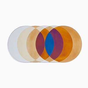Specchio Transience grande con cerchi di David Derksen & Lex Pott per Transnatural
