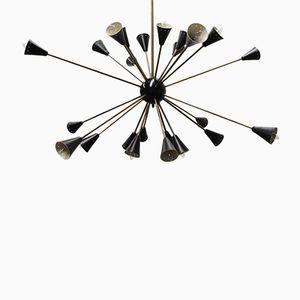 Vintage Sputnik Kronleuchter mit 24 Leuchten von Stilnovo