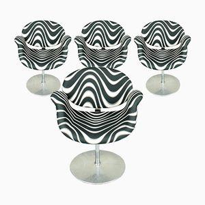 Kleine Tulip Stühle mit Momentum Bezügen von Pierre Paulin für Artifort, 1970er, 4er Set