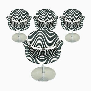 Small Tulip Chairs with Momentum Fabric by Pierre Paulin for Artifort, 1970s, Set of 4