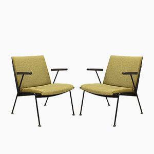 Vintage Dutch Oase Lounge Chairs by Wim Rietveld for Ahrend De Cirkel, Set of 2