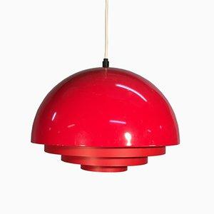 Rote Lampe aus Metall von Fog & Morup, 1960er