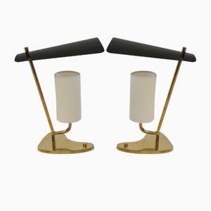 Italian Brass Lamps, 1950s, Set of 2