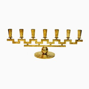Candlestick with Seven Arms by Lars Holmström for Arvika, 1950s