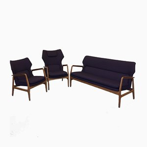 Wingback Sitzgruppe von Aksel Bender Madsen für Bovenkamp, 1950er