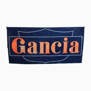 Großes Emailliertes Vintage Gancia Schild von Artemail