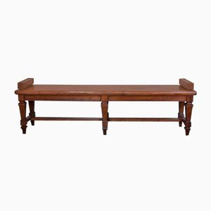 Antique French Oak Hall Bench