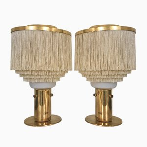 Model B-145 Fringed Table Lamps by Hans-Agne Jakobsson, 1960s, Set of 2