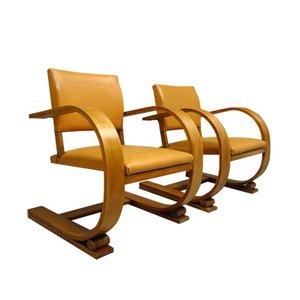Französische Vintage Stühle von VIBO, 1950er, 2er Set