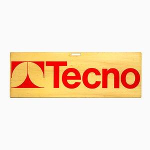 Werbeschild von Osvaldo Borsani für Tecno, 1970er