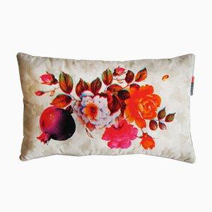 Coussin Rimen Flower Orange par Rana Salam
