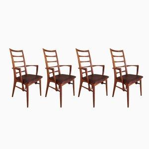 Lis Carver Chairs by Niels Koefoed, 1960s, Set of 4