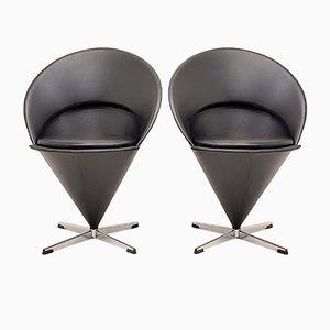 Model K1 Cone Chairs by Verner Panton for Gebrüder Nehl, 1950s, Set of 2