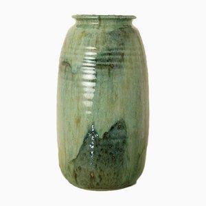 Emaillierte Französische Vintage Steingut Vase, 1980er