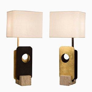 Due Piastre Tischlampen von Esperia, 2014, 2er Set