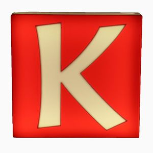Grande Lettre K Éclairée à Double Face Mid-Century