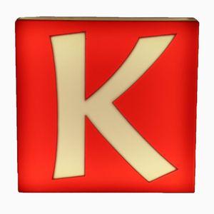 Mid-Century Large Double-Sided Illuminated Letter K