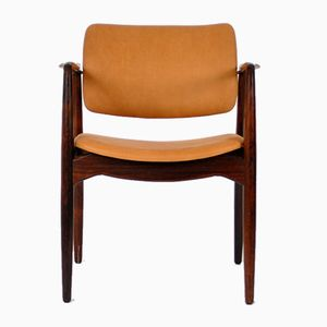 Mid-Century Rosewood Captains Chair by Erik Buch for Ørum Møbelfabrik, 1960s