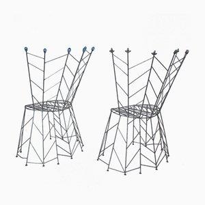 Vintage Pupeny Stühle von Bohuslav Horak, 1988, 2er Set