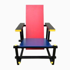 Vintage Red U0026 Blue Armchair By Gerrit Thomas Rietveld