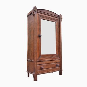 Petite Boîte de Rangement Art Nouveau Antique à Miroir