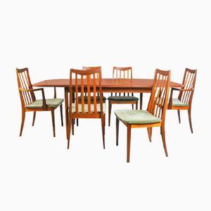 Mid-Century Esstisch & Stuhl Set von G-Plan, 1970er