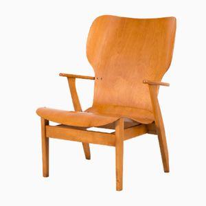 Mid-Century Domus Lux Lounge Chair by Ilmari Tapiovaara, 1940s