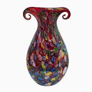 Polychrome Italienische Vintage Murano Glas Vasen von Fratelli Toso, 1970er