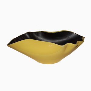 Yellow & Black Bowl by Elchinger, 1950s
