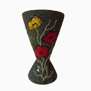 Mid-Century Vase von Gabriel Fourmaintraux für Desvres
