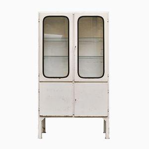 Armadietto per medicinali vintage in vetro e ferro, anni '70