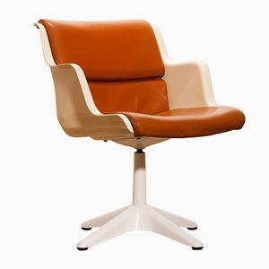 Mid-Century Swivel Desk Chair by Yrjö Kukkapuro for Haimi Finland, 1970s