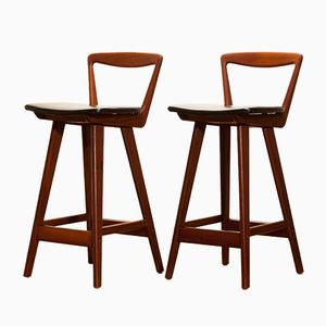 Mid-Century Danish Bar Stools by Henry Rosengren Hansen for Brande Møbelindustri, 1960s, Set of 2