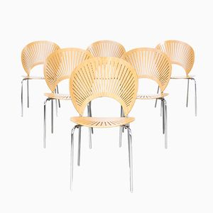 3298 Trinidad Chair by Nanna Ditzel for Fredericia Stolefabrik, 1960s, Set of 6