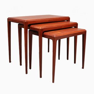 Teak Nesting Tables by Johannes Andersen for Silkeborg Møbelfabrik, 1960s