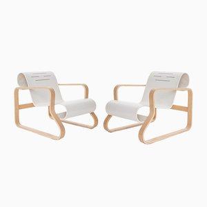 Modell 41 Sessel von Alvar Aalto für Artek, 1972, 2er Set