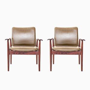 Diplomat Chairs by Finn Juhl for France & Søn, 1964, Set of 2