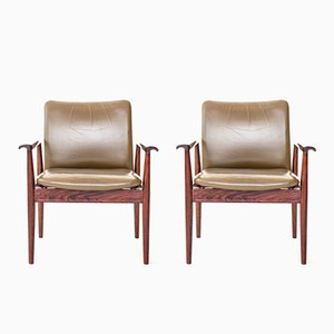 Diplomat Stühle von Finn Juhl für France & Søn, 1964, 2er Set