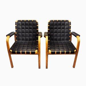 Modell 46 Sessel von Alvar Aalto für Artek, 1947, 2er Set