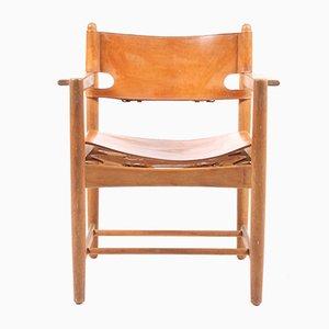 Mid-Century Esszimmer Stühle aus Leder & Eiche von Børge Mogensen für Fredericia, 1960er, 6er Set
