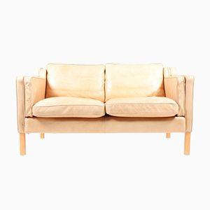 Dänisches Vintage 2-Sitzer Leder Sofa, 1980er