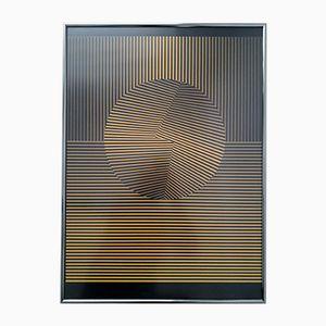 Sérigraphie Esfera Op Art par Eusebio Sempere, 1985