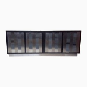 Italian Steel & Laminate Wood Sideboard, 1970s