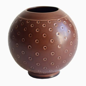 Brown Vase by Nils Thorsson for Royal Copenhagen, 1958