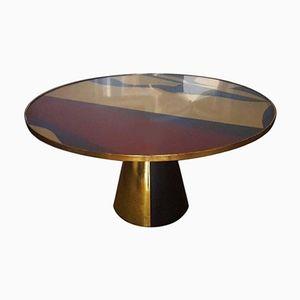 Runder Tisch mit Abstraktem Design & Fuß in Pyramidenform von Mordecai Pillant, 2016